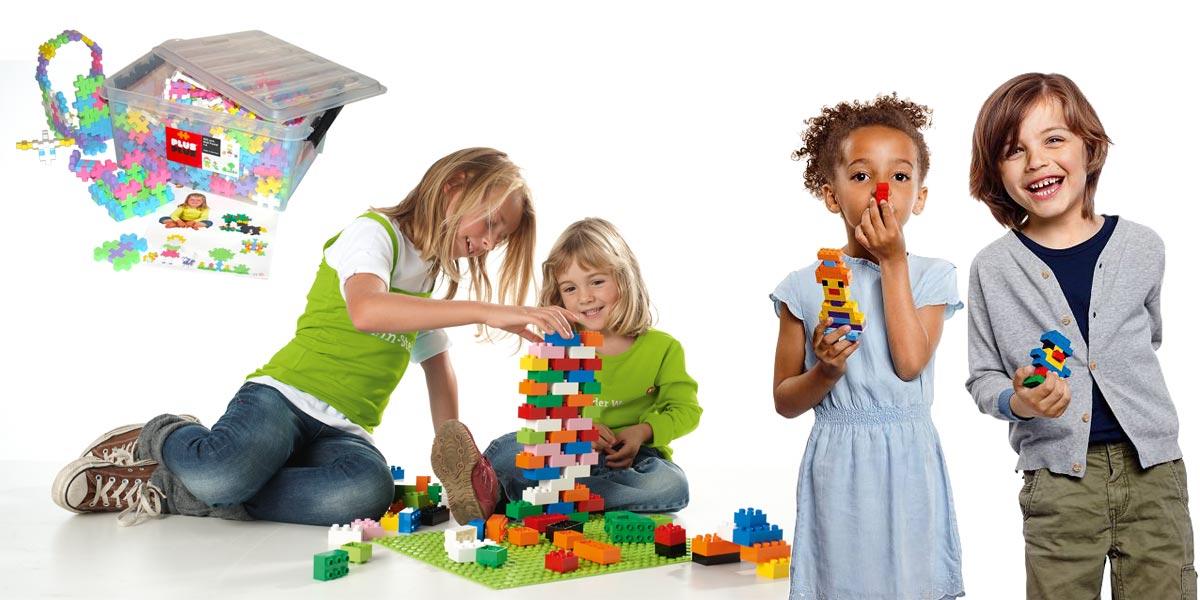 OST-SPIEL - plastic building blocks to plug