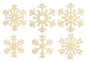 Preview: wooden pendant snowflake set natural