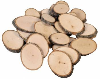 Natural wood discs oval 1000 g
