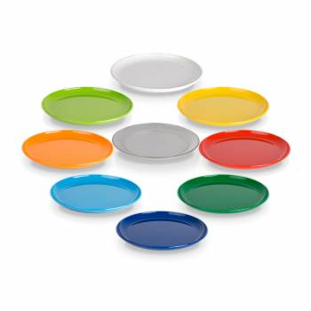 children's plate small 19cm PC, available in 8 brilliant colors and transparent