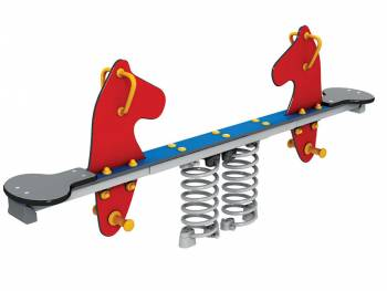 Spring seesaw red seahorse