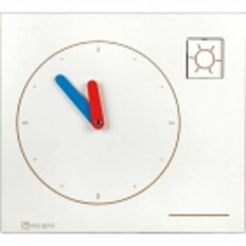 Wall element clock