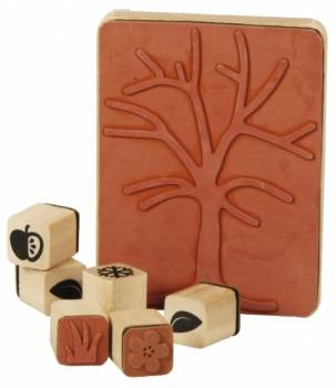 Wooden stamp set - The Season Tree
