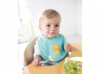HABA Baby Bibs Leo Luis with child