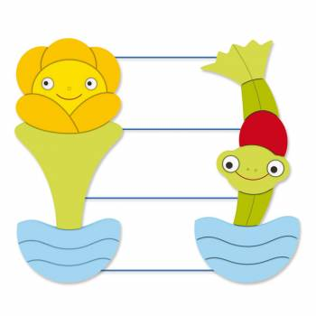 "Rope Bord ""Frog and Kingcup"""