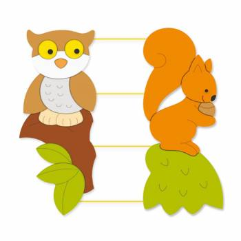 "Rope Bord ""Owl and Squirrel"""