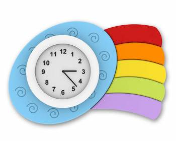 "Clock ""Little Cloud with Rainbow"""