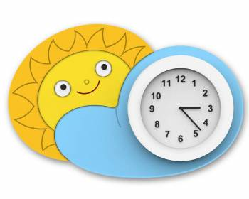 "Clock ""Sun on the Cloud"""