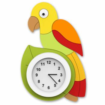 Clock Parrot - yellow