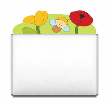 "Design-Magnetic board ""Beetle and Flowers"""