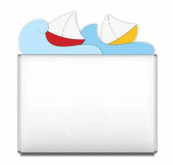 "Design-Magnetic board ""Boats on Waves"""