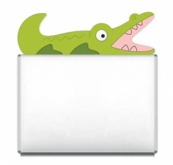 "Design-Magnetic board ""Crocodile"""