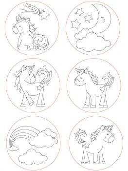 Giant stamp set Unicorn motive
