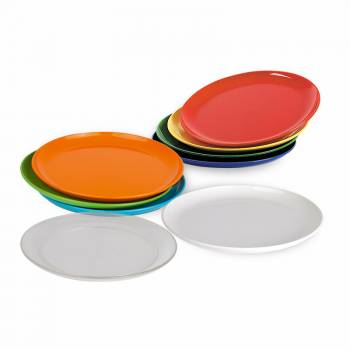 children's plate small 19cm PC, available in 8 bright colors and transparent