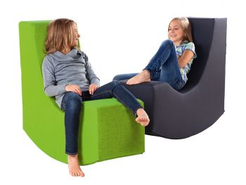 Read seesaw seat big with 2 girls relaxing
