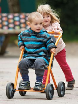 buggy activ with happy playing children