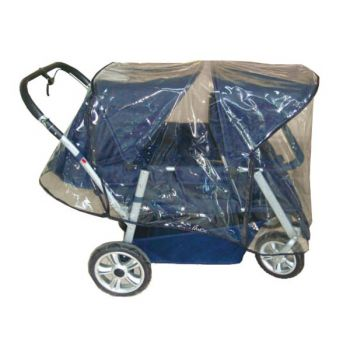 Rain cover for crib cart Helena in action