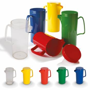 Juice jug with lid 500 ml in four colors and transparent