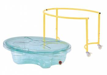 Sand and water play table, clear view