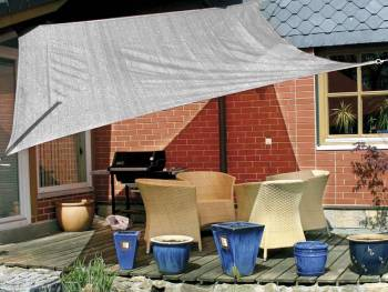 Awning permeable to water grey rectangular as an example