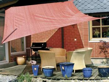 Awning permeable to water color rost rectangular