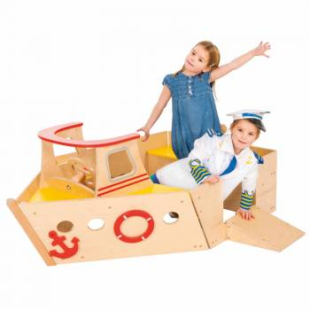 Play boat - Large play boot pic 2 with happy children