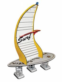 Spring seesaw Windsurfer yellow