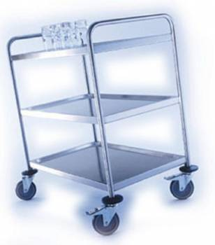 Blanco stainless steel serving trolley