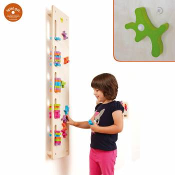 German Wooden Toy Stacking Ghost Board with children plays