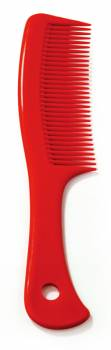 Handle comb with hole red