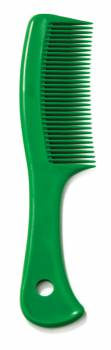 Handle comb with hole green
