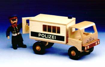 Wooden truck police