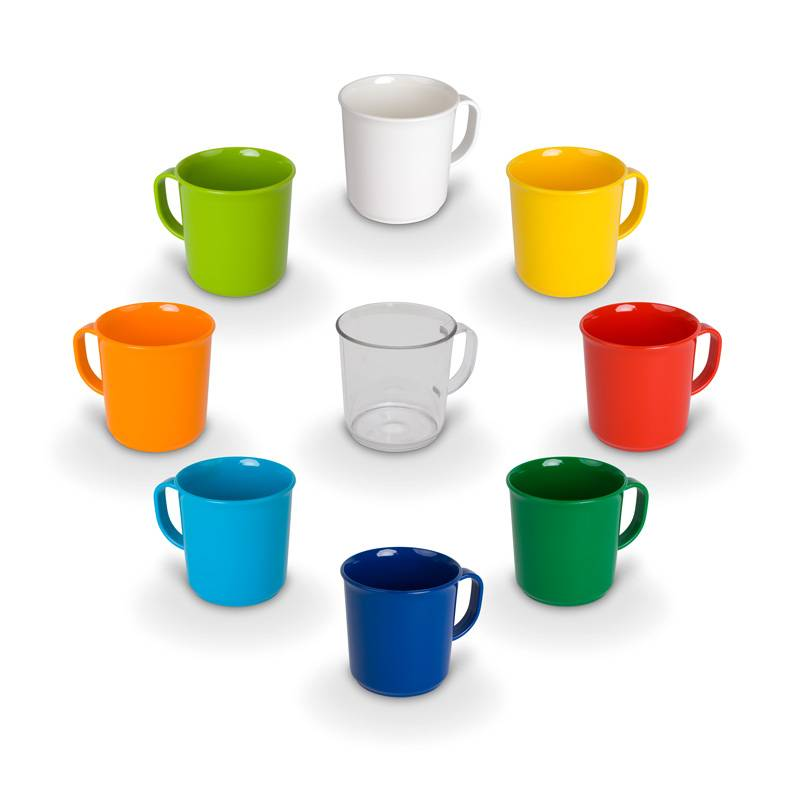 Handle cup Available in 8 bright colors and transparent clear  for kindergarten