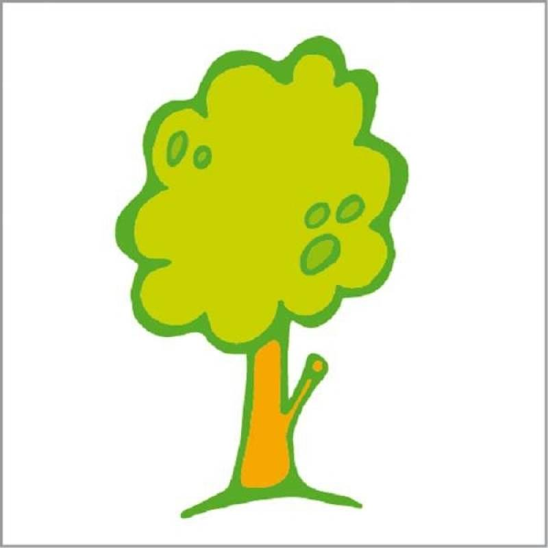 Sticker items, tree as an example