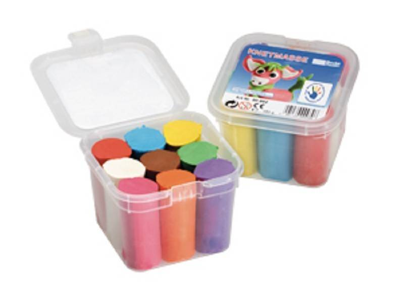 Children's playdough mixing set with 9 colors