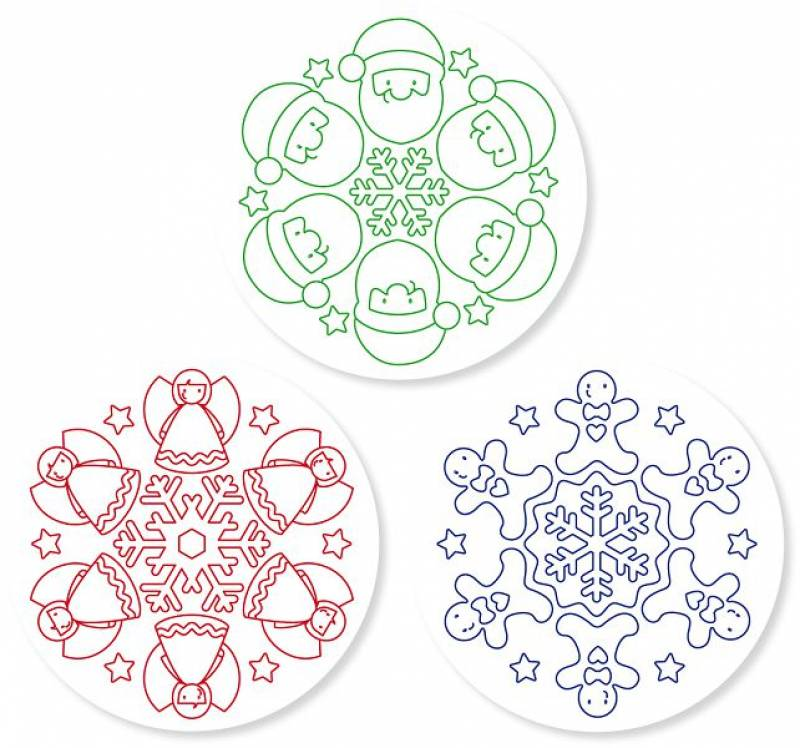 "Wooden stamp ""Christmas Mandalas"" example"