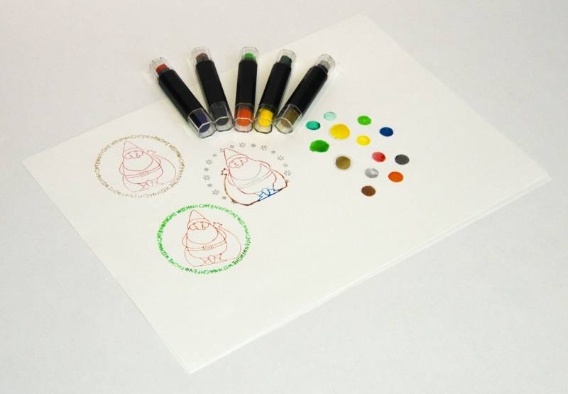 Stamp dyeing pens with 10 colors example