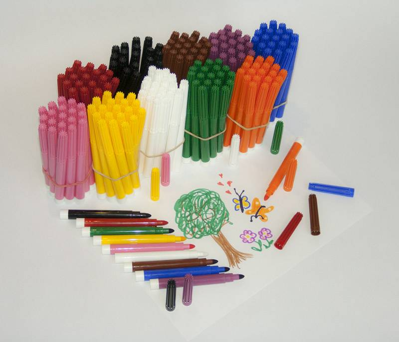 Felt pen large pack for kindergartens