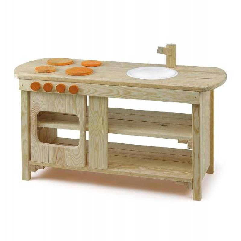 Garden play kitchen made of impregnated pine wood