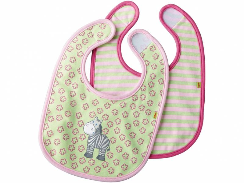 HABA Baby Bibs Zebra Evi Set with 2 pieces