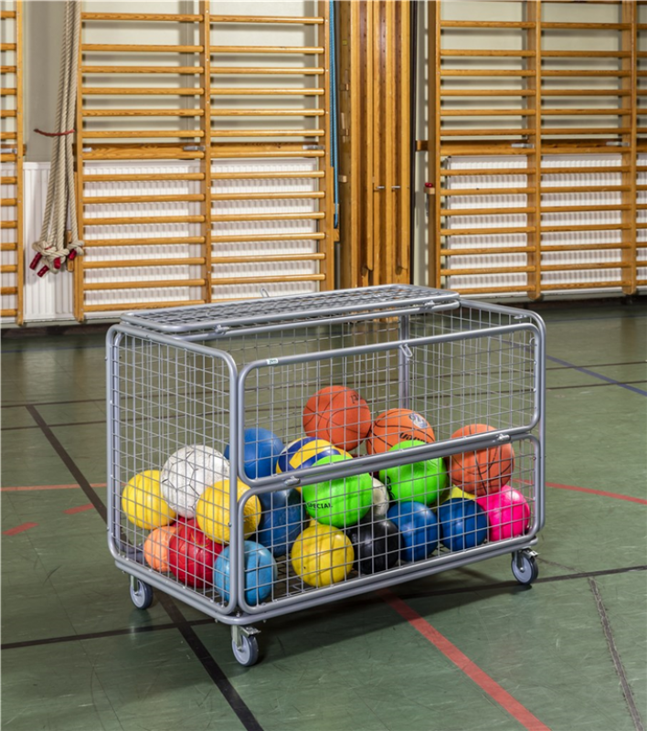 Transport cage with balls