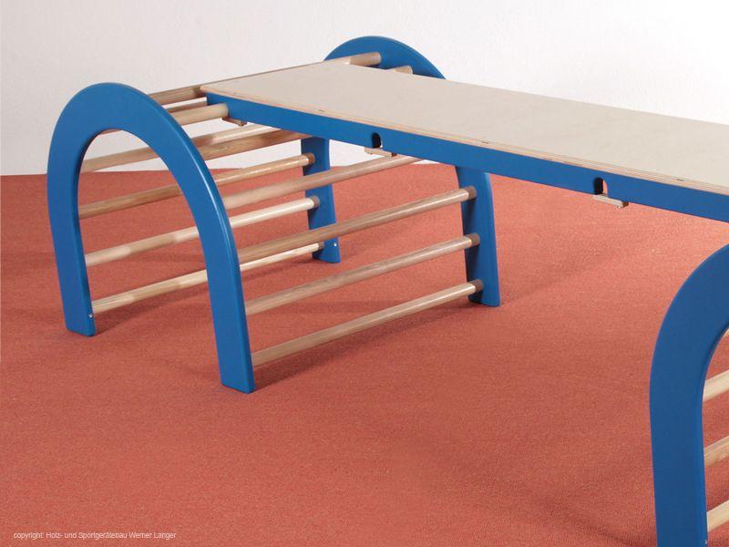 Holz Kletter Bogen : Der kindergarten onlineshop kletterbogen set teilig blau