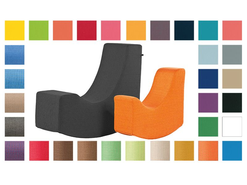Read rocker seat in 2 sizes and 2 fabrics