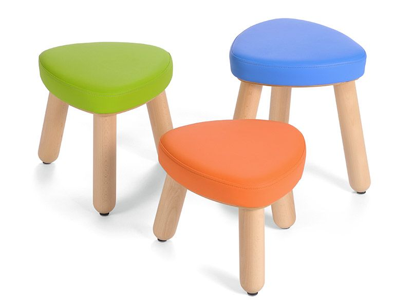 Upholstered stool Trinitas in 3 different seat heights