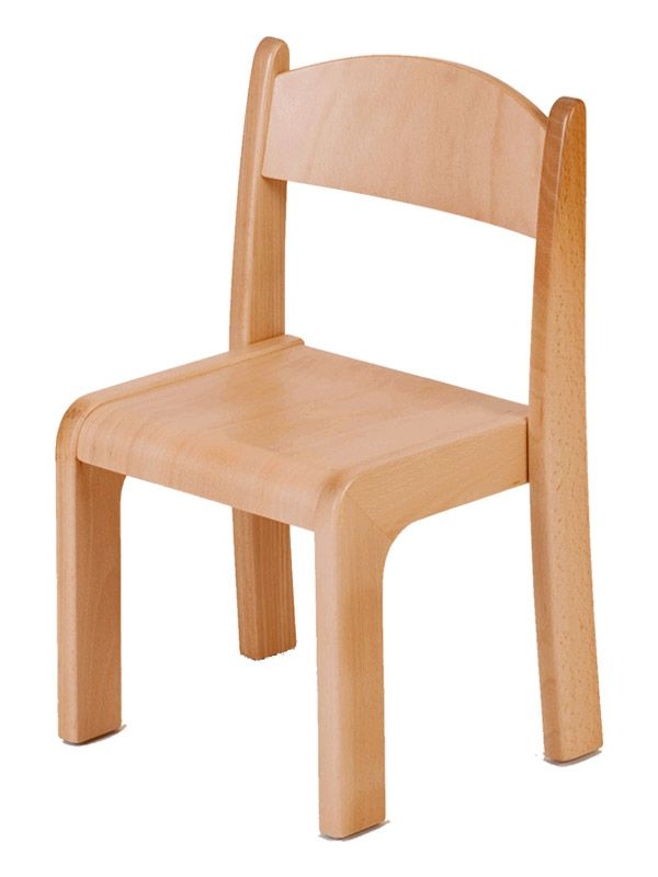 Stacking chair Alex ergonomically shaped wooden chair