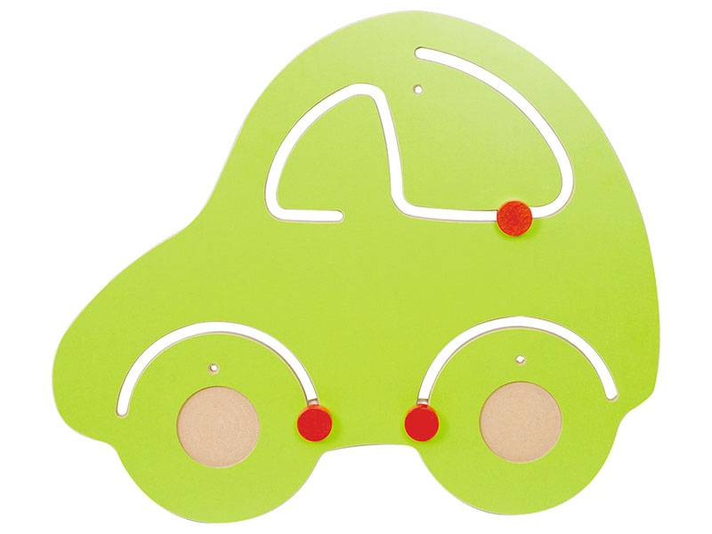 wall play car