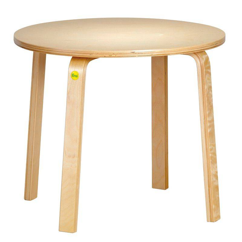 Shaped wood table 52 cm