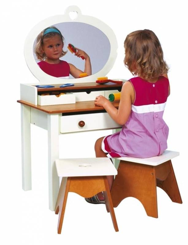 Country House-Make up table-KM11950331_Picture-1-Product with child and 2 stools