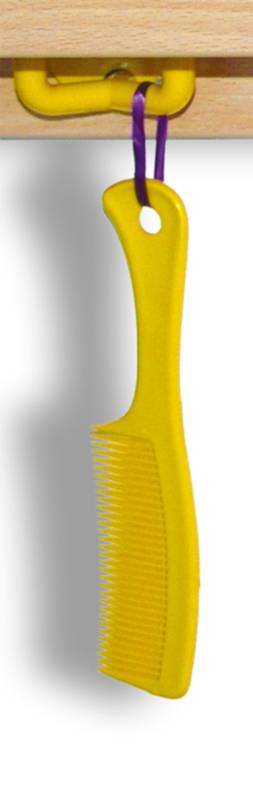 Handle comb with hole yellow
