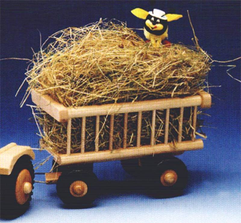 Trailer hay wagon with decoration